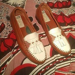 Vintage J&M Two Tone Tassel Loafers, 10M